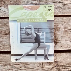 NEW! Capezio Ultra Shimmery Footed Tights